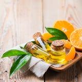 Organic essential tangerine, mandarin, clementine oil Stock Photo