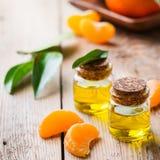 Organic essential tangerine, mandarin, clementine oil Royalty Free Stock Photo