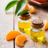 Organic essential tangerine, mandarin, clementine oil Royalty Free Stock Image