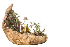 Organic extra virgin olive oil isolated Stock Photo