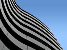 Organic facade. Modern architecture Royalty Free Stock Images