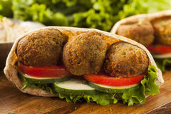 Organic Falafel in a Pita Pocket Royalty Free Stock Images