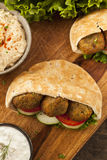 Organic Falafel in a Pita Pocket Stock Image