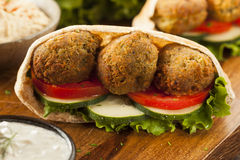 Organic Falafel in a Pita Pocket Royalty Free Stock Photo