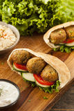 Organic Falafel in a Pita Pocket Stock Images