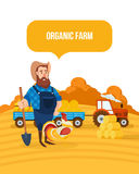 Organic farm. Agriculture and farming. Agribusiness. Rural landscape. Farmland. Royalty Free Stock Photo