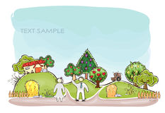 Organic farm background, Harvest. Happy world collection Royalty Free Stock Photo