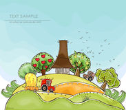 Organic farm background, Harvest. Happy world collection Royalty Free Stock Photography