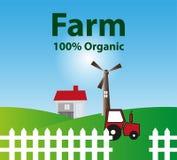 Organic farm background. Illustration Royalty Free Stock Photos
