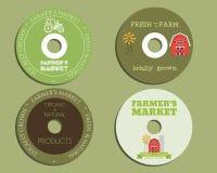 Organic farm CD, DVD templates. sign, icon Stock Photos