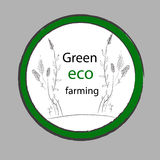 Organic Farm. Eco Green Vector label Royalty Free Stock Images