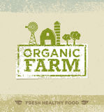 Organic Farm Fresh Healthy Food Eco Green Vector Concept on Paper Background. Stock Photo