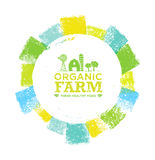 Organic Farm Fresh Healthy Food Eco Green Vector Concept on Paper Background. Stock Photos