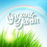 Organic Farm Logo Royalty Free Stock Photo