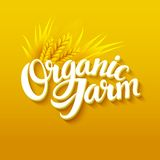 Organic Farm Logo. Hand lettering. EPS 10 Stock Photo