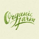 Organic Farm Logo Royalty Free Stock Image