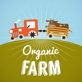 Organic Farm poster Stock Images