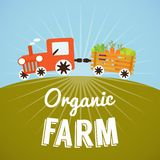 Organic Farm poster Royalty Free Stock Image