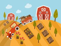 Organic Farm Products, landscape view Royalty Free Stock Photo