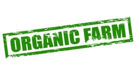 Organic farm. Rubber stamp with text organic farm inside, illustration stock illustration