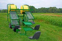 Organic Farm Transplanter Machine Royalty Free Stock Photo