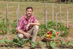 Organic Farmer Royalty Free Stock Photos