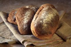 Organic farmhouse bread loaves Stock Images
