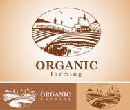 Organic farming design element. Stock Images