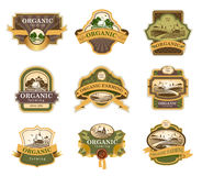 Organic farming label Royalty Free Stock Photos