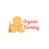 Organic farming with stack of hay Royalty Free Stock Image