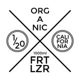 Organic Fertilizer Label and Badge Design. Vector. Illustration Stock Images