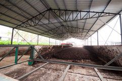 Organic fertilizer production line royalty free stock images
