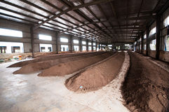 Organic fertilizer production line. In Anhui province, China Stock Image