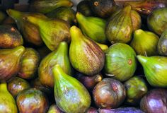 Organic fig market  Royalty Free Stock Images