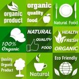 Organic flat icons Stock Photo