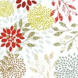 Organic flowers vector illustration
