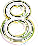 Organic Font illustration. Number 8 Royalty Free Stock Photography