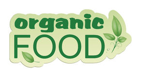 Organic food. An image of an organic food web icon Stock Images