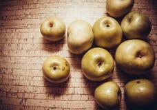Organic food: apples Stock Photo