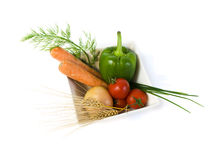Organic food assortment Royalty Free Stock Photos