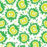 Organic food background Apples seamless pattern Stock Photo