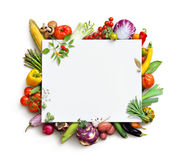 Organic food background and Copy space. royalty free stock image