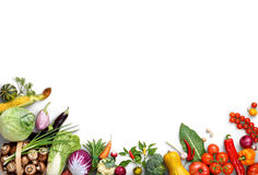 Organic Food Background. Food Photography Different Fruits And Vegetables Royalty Free Stock Photo
