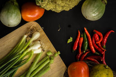 Organic, food, background, fresh, market, summer, wood, design, cook, wooden. Healthy food ingredients background. Vegetables, herbs and spices. Organic Royalty Free Stock Photo