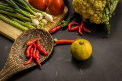 Organic, food, background, fresh, market, summer, wood, design, cook, wooden. Healthy food ingredients background. Vegetables, herbs and spices. Organic Stock Photos
