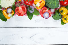 Organic food background Stock Image