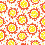 Organic food background oranges seamless pattern Stock Photo