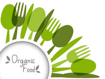 Organic food background Stock Images