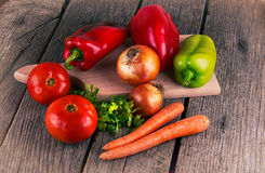 Organic food background Vegetables pepper mill Stock Photo