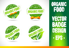 Organic food Badge Logo Vector Stock Photo